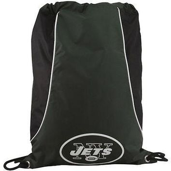 NFL New York Jets Axis Backpack Cinch String Bag Tote Drawstring Pouch Sling