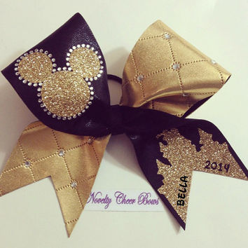 Monogram Rhinestone TicToc Large Cheer Bow (add name in comment section)