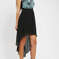 One & Only x Urban Renewal High/Low Chiffon Dress