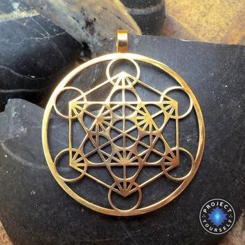 Metatron's Cube Pendant Necklace