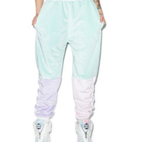 Coveted Society Pastel Faux Fur Joggers Multi