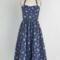 Vintage Inspired Long Halter Fit & Flare Petit Fours, Please! Dress