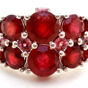Ruby Ring Size 7 Sterling Silver India