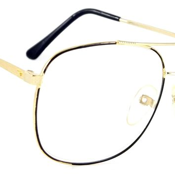 Retro Aviator Reading Glasses Classic Sanders Readers Metal Square Frame