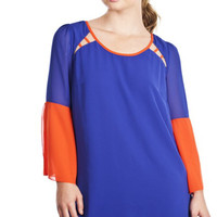 Later Gator Blue and Orange Dress