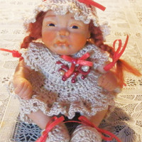 "Art Doll Hand Sculpted in Polymer Clay "" Adopt this little baby""  Fairy Dolls, collectible fairy dolls, polymer clay dolls"