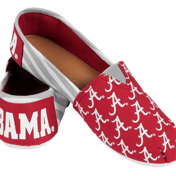 University of Alabama Forever Collectibles Women's Canvas Slip On Shoes Sizes S-XL w/ Priority Shipping