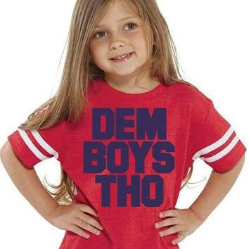 DEM BOYS THO Kids Tee Football Jersey | Sizes 2T to 5/6T | Kids Cowboys Shirt | Dem Bo