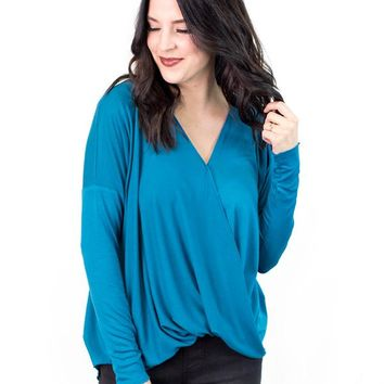 Joni Faux Wrapped V-Neck Top