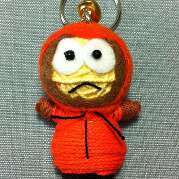 Kenny South Park String Voodoo Doll Collection Character Keyring Keychain Movie Cartoon Key Ring Chain Handmade Funny Bag Car Decor Toy Boy