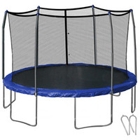 Walmart: Skywalker 14' Round Trampoline, Blue and Enclosure with Wind Stakes