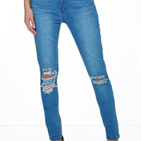 Layla Ripped Knee Skinny Jeans