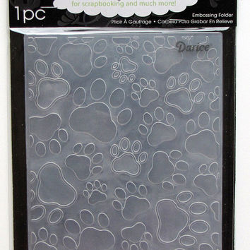 Darice Paw Prints A2 Embossing Folder