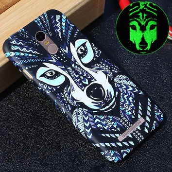 New Glow in the dark Luminous king of forest lion wolf TPU Silicon case Soft cover For Xiao Mi Redmi Note 3 Redmi Note 3 Pro