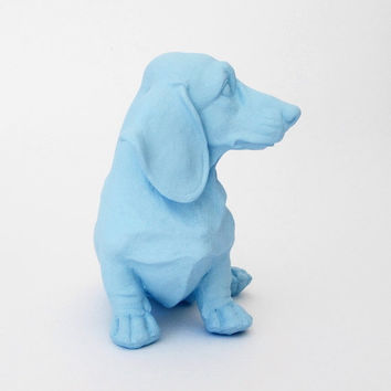 Dachshund, Blue, Dog, Dachshund Decor, Sausage Dog, Blue Dog, Blue Dachshund, Hodi Home Decor, Dachshund Figurine, Puppy