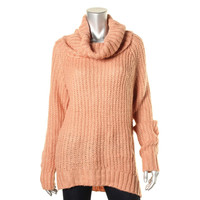 Dreamers Womens Juniors Knit Cowl Neck Pullover Sweater