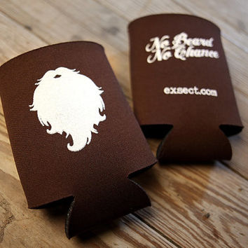 No Beard No Chance Drink Cozy / Koozie / Super Sweet Beardy Gift / Coozie