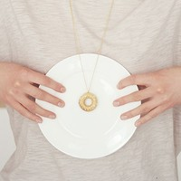 Donut Necklace - White/Gold -25%