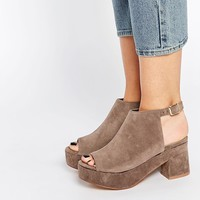 Daisy Street | Daisy Street Platform Cut Out Ankle Boots at ASOS