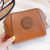 Tory Burch New fashion leather chain shoulder bag women Brown