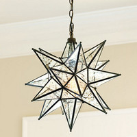 Moravian Star Pendant Mercury Glass | Ballard Designs