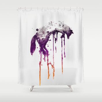 Quick Brown Fox Shower Curtain by Budi Satria Kwan