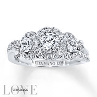 Vera Wang LOVE Ring 1-1/4 ct tw Diamonds 14K White Gold