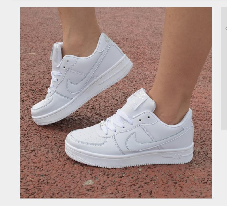 NIKE Women Men Running Sport Casual Shoes Sneakers Air force White 802330a725