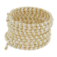 HauteChicWebstore Women's Stacked Cube & Ball Beads Wrap Bracelet - www.shophcw.com