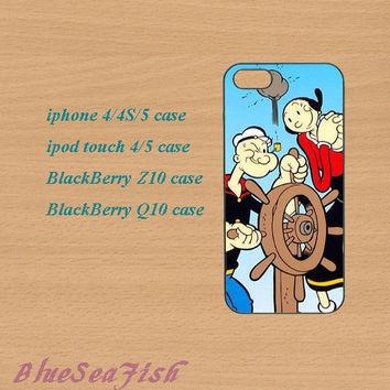 iphone 4 case,iphone 5 case,ipod touch 4 case,ipod touch 5 case,Blackberry z10 case,Blackberry q10--popeye,olive oyl,in plastic and silicone