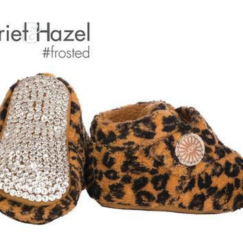 Bixbee Leopard UGG Booties - Infant with Swarovski crystal covered sole