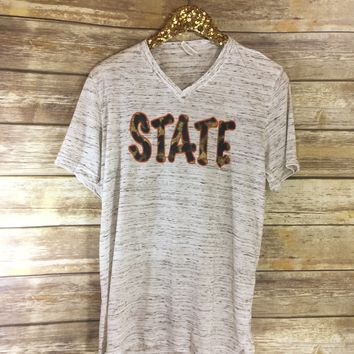 Leopard orange STATE t-shirt
