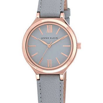 Anne Klein Ladies Rose Gold Tone and Gray Watch