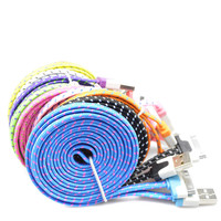 1M/2M/3M Braid USB Sync Charger Cable Cord For iPhone 4 4S for iPad 2 3 for ipad touch