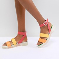 ASOS DESIGN Fuma Chunky Gladiator Sandals at asos.com