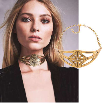 Gift Jewelry New Arrival Stylish Shiny Irregular Vintage Alloy Strong Character Necklace [11668801231]