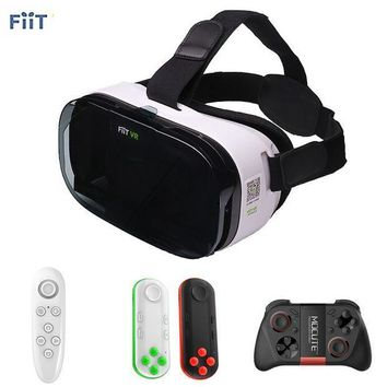 CREYL Fiit 2N VR Cardboard 3D Glasses for Samsung Virtual Reality Headset vrbox Head Mount Video Helmet +Bluetooth Controller