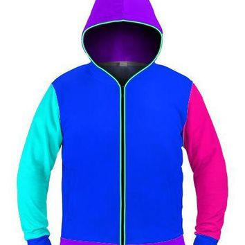 Neon Color Block - Light Up Hoodie