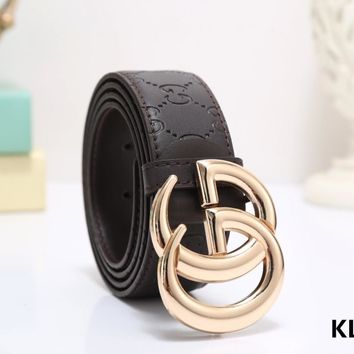 【Gucci New 2018】Fashion Men'S Casual Belts  Buckle Genuine Leather Belts
