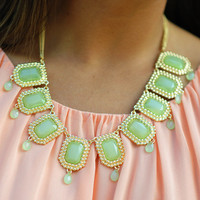 Scream And Shout Necklace: Green | Hope's