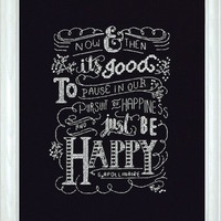 Design Works Be Happy Chalkboard - Counted Cross Stitch Kit - TheAngelsNook.com
