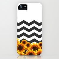 Sunflower Chevron Design iPhone & iPod Case by LFT Designs