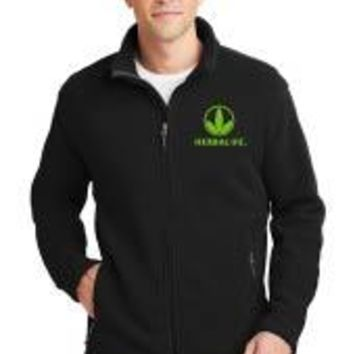 Herbalife 1/4 zip Fleece Jacket-Trileaf