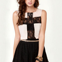 Pretty Party Black Lace Skirt