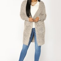 Warm And Cozy Cardigan - Rose