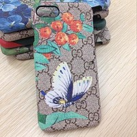 GUCCI Fashion insect Bird Print iPhone Phone Cover Case For iphone 6 6s 6plus 6s-plus 7 7plus