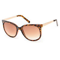 Tortoise Metal Arms Sunglasses