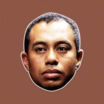 Disgusted Tiger Woods Mask - Perfect for Halloween, Costume Party Mask, Masquerades, Parties, Festivals, Concerts - Jumbo Size Waterproof Laminated Mask