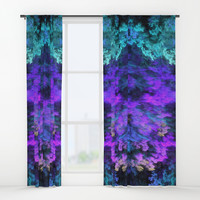 Faux Nature Fractal Window Curtains by lyle58