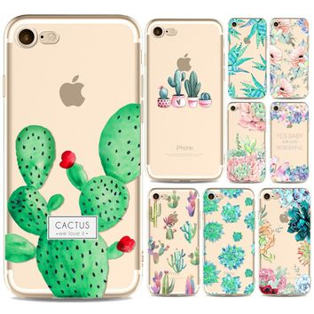 Green Plants Fatty Succulents Cactus Back Phone Case